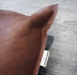 Nahkatyyny 40×40 cm, ruskea